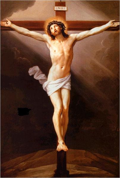 Christ on a cross.