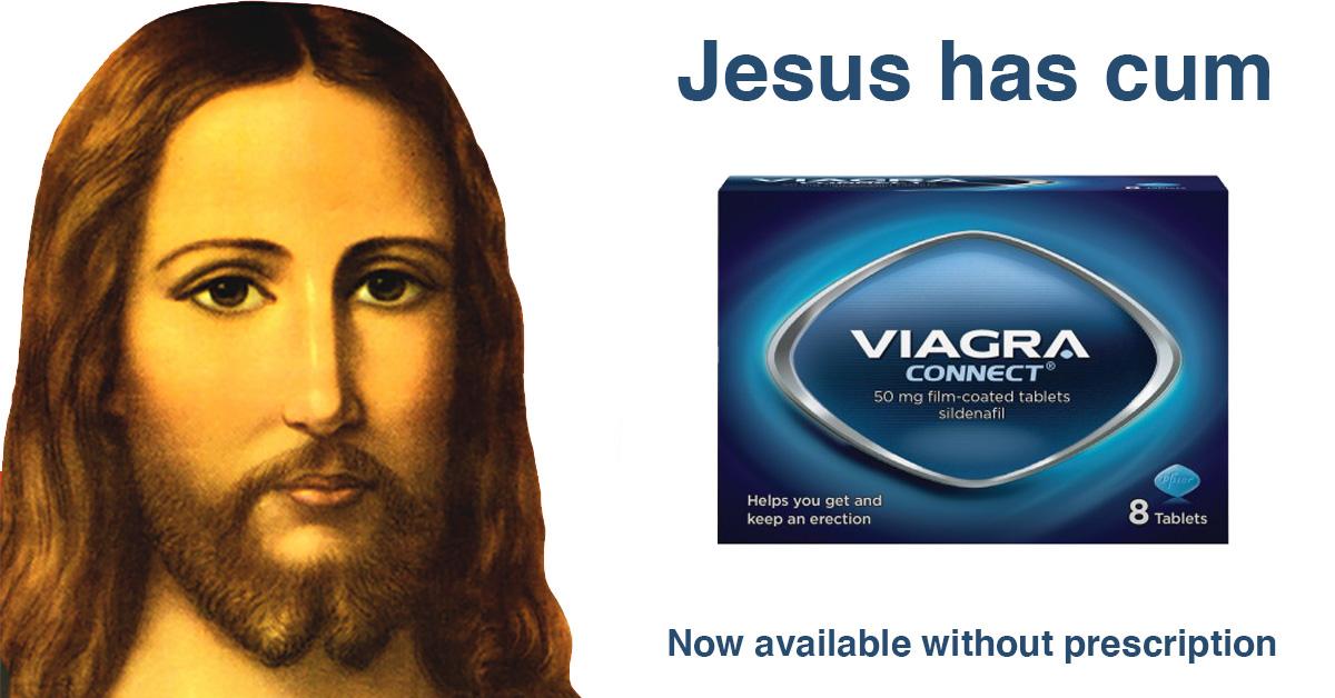Jesus Christ advertising Viagra