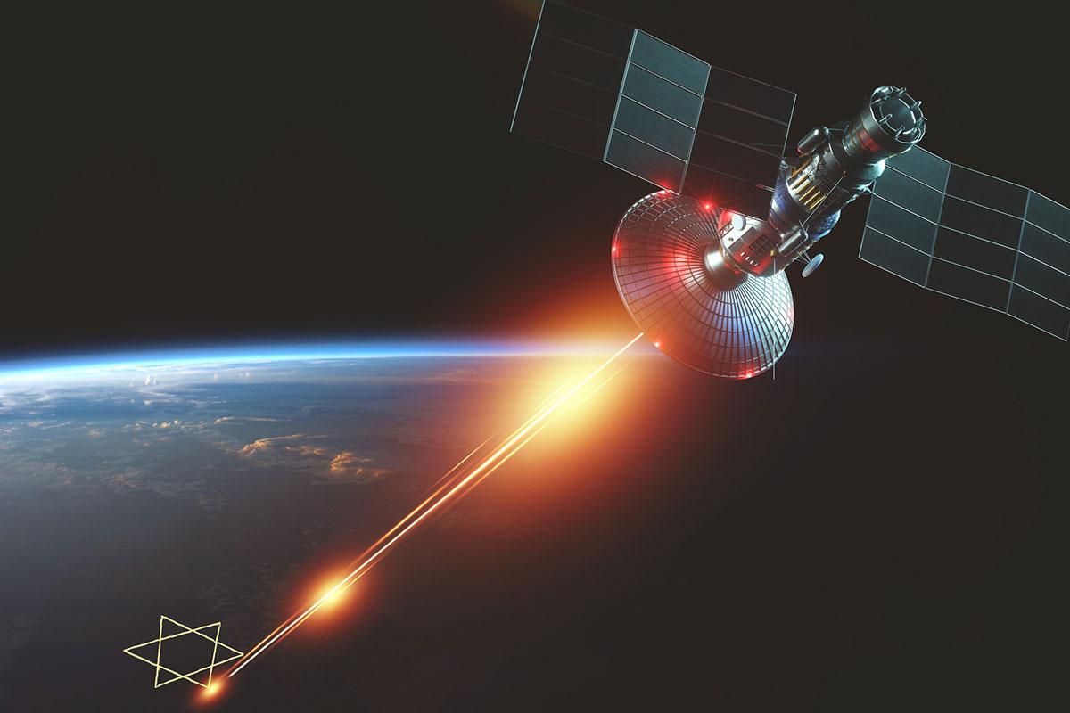 Jewish laser beam fires into space - satire