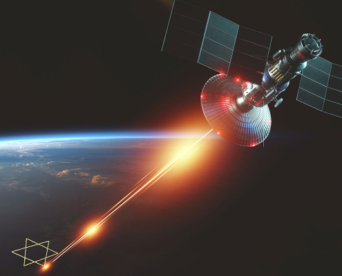 Jewish laser beam fires from space - satire